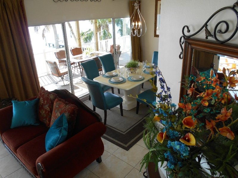 As you can see you can dine outside or inside - Water Front  Beach Condo - Redington Shores - rentals