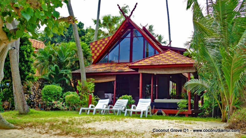 Beachfront Holiday Villa for Rent: Coconut Grove D1 - Image 1 - Koh Samui - rentals