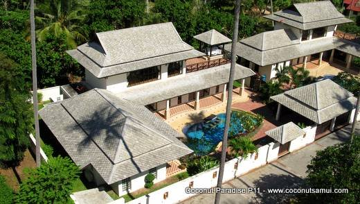 Private Pool Villa for Rent: Coconut Paradise P11 Beachside Holiday Rental - Image 1 - Koh Samui - rentals