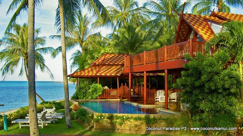 Beachfront Pool Villa for Rent: Coconut Paradise P3 - Image 1 - Koh Samui - rentals