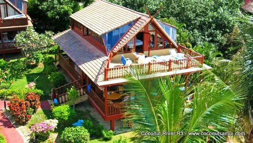 Beachfront Holiday Villa for Rent: Coconut River R3 - Image 1 - Koh Samui - rentals