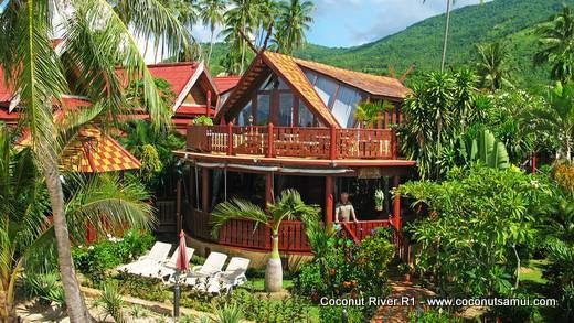 Beachfront Holiday Villa for Rent: Coconut River R1 - Image 1 - Koh Samui - rentals