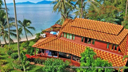 Beachfront Holiday Villa for Rent: Coconut Sands S1 - Image 1 - Koh Samui - rentals