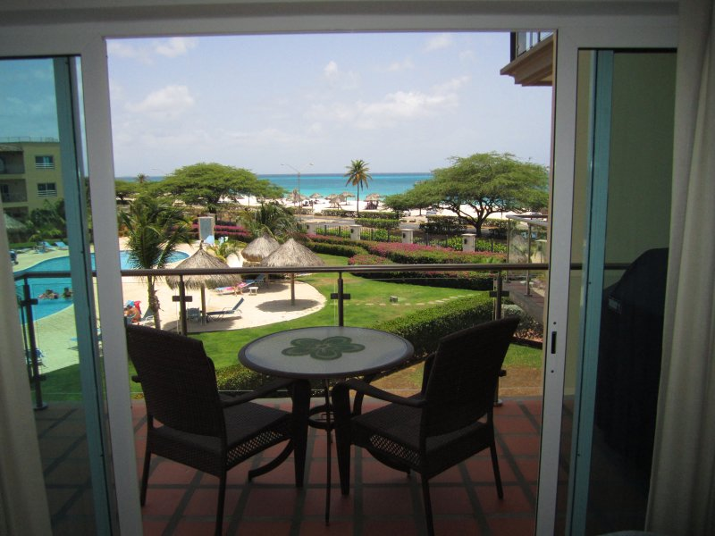 View to the ocean from your living room balcony - Royal Aquamarine Three-bedroom condo - BC252 - Palm Beach - rentals