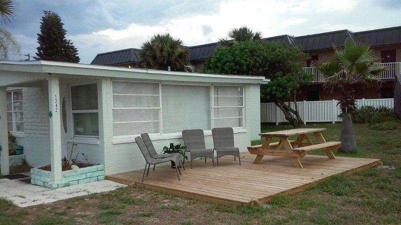 Oceanfront Beach Bungalow, 2 Bedroom, 1.5 Bath with Private Outdoor Shower - Oceanfront Beach Bungalow Flagler Beach - Flagler Beach - rentals