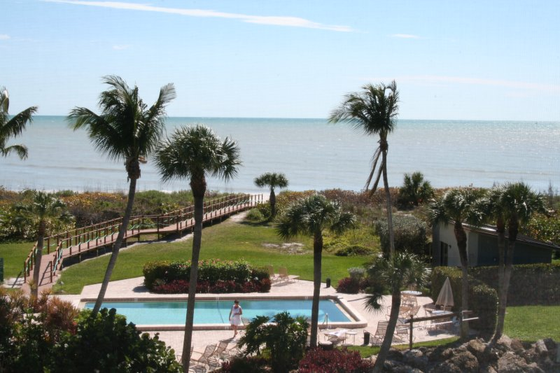 Direct Front Facing View From Our Lanai - Stunning Remodel, Direct Oceanfront View - Sanibel Island - rentals