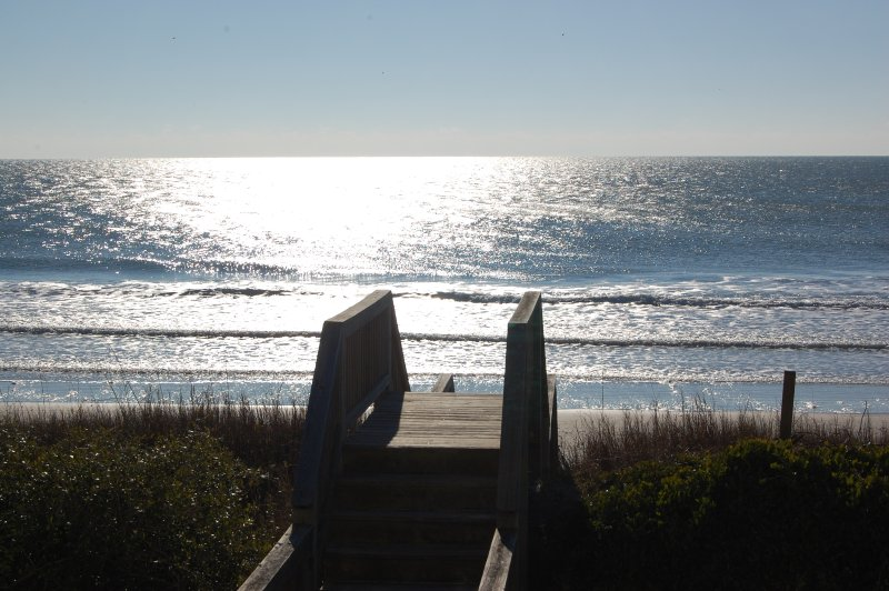 View of our walkway to the beach - OCEAN FRONT-hot tub/pool 5BR Great reviews! - Topsail Beach - rentals