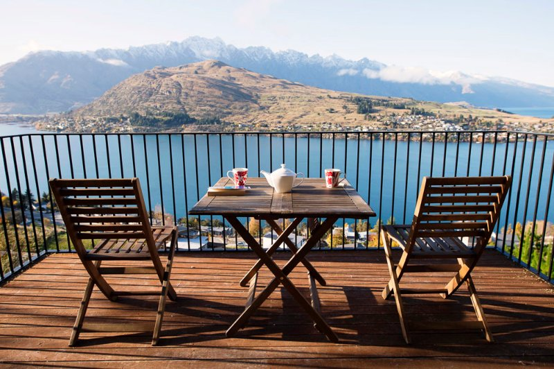 the perfect place to start your day - Views on Tussock, Queenstown luxury holiday home - Queenstown - rentals