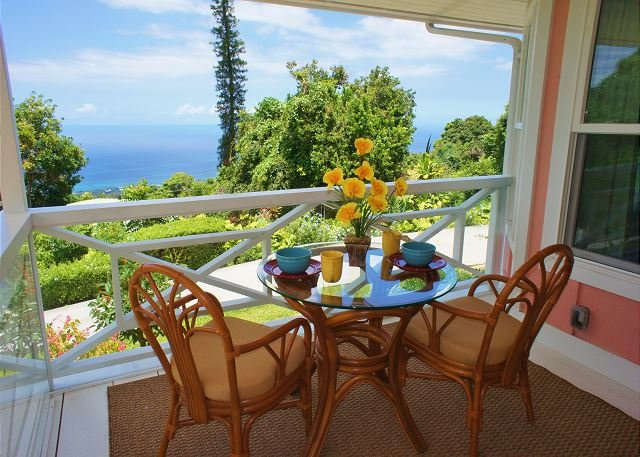 Great Ocean Views From Covered Lanai - Beautiful Views, Beautiful Home, Beautiful Grounds! Hale Pu'ulani - Holualoa - rentals