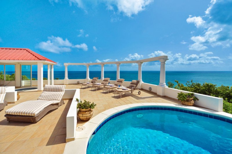 Terrasse De Mer...4BR Vacation Villa, Terres Basses, French St. Martin 800 480 8555 - TERRASSE DE MER...Gorgeous villa, breathtaking view of Baie Rogue Beach. - Baie Rouge - rentals