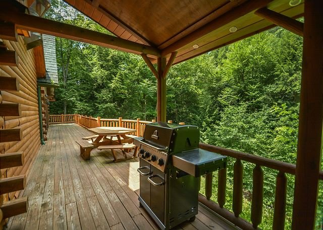 Deck - Beautiful tranquil setting alongside the stream - McHenry - rentals