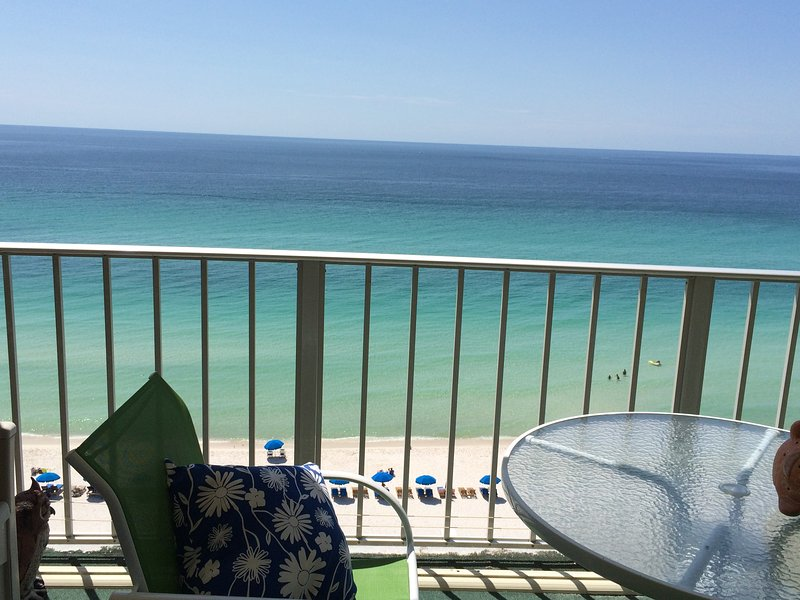 View from the balcony - Gulf Front! Complimentary Beach Chairs! - Panama City Beach - rentals