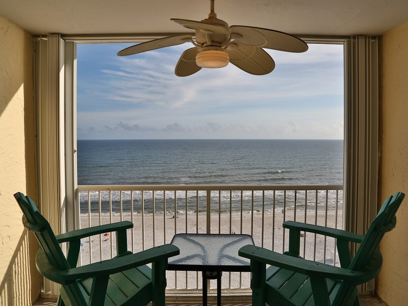 Private balcony - Castaways 9C - Gulf Front - Close to Town - Gulf Shores - rentals