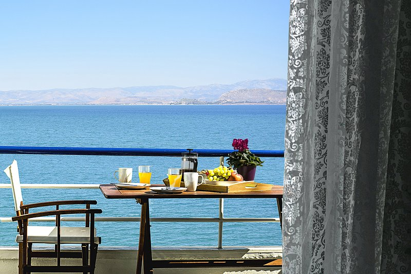 View from Balcony - Waterfront 1 Bedroom apartment, near Nafplion!!! - Nauplion - rentals