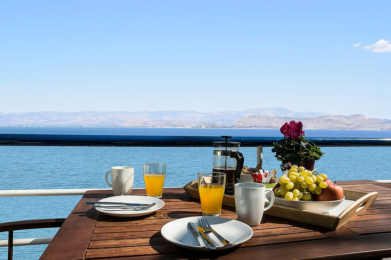 View from Balcony - Waterfront Studio Apartment, near Nafplion!!! - Nauplion - rentals