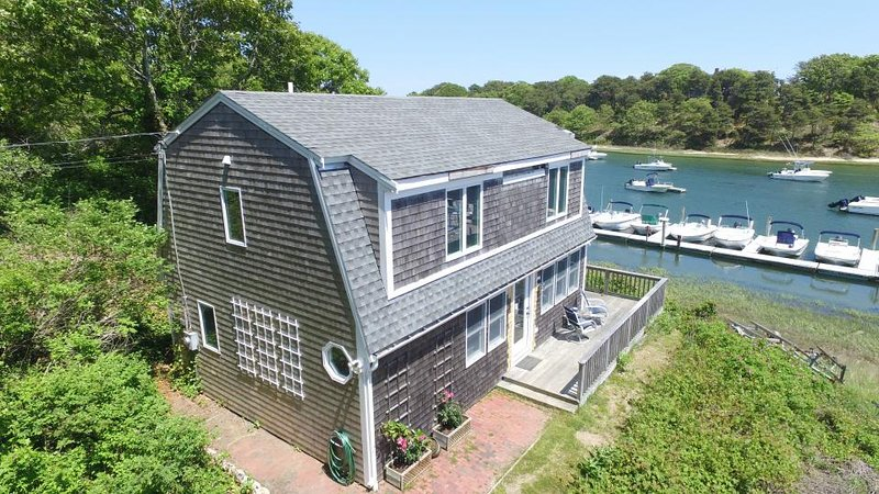 Breathtaking riverfront dog-friendly home w/ a lovely deck, close to the beach! - Image 1 - Chatham - rentals