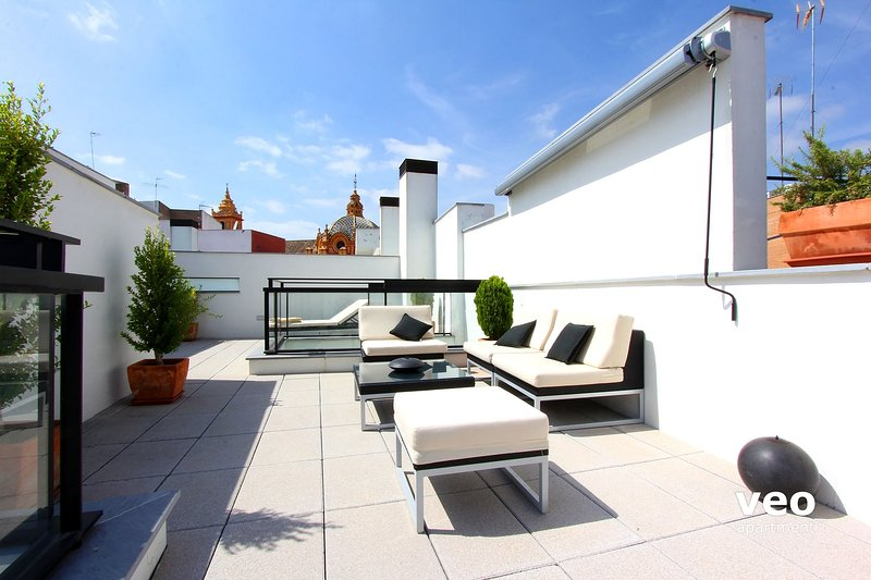 One bedroom apartment features a large private terrace. - Corral del Rey Terrace 2. Duplex, chillout terrace - Seville - rentals