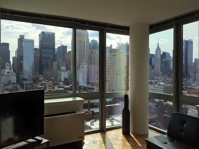 Living room - 1BR APT - Awesome view near Times SQ!!!!! - New York City - rentals