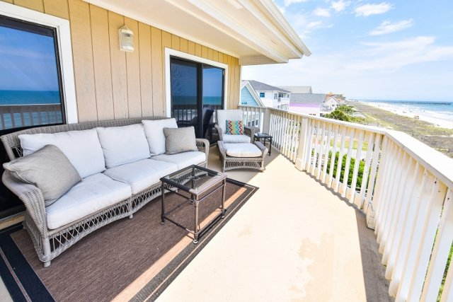 Very private balcony with a view all down the beach! - LUX VIEW! PLUSH! TIME TO BOOK B4 SUM RUSH! 5 STAR! - Surfside Beach - rentals