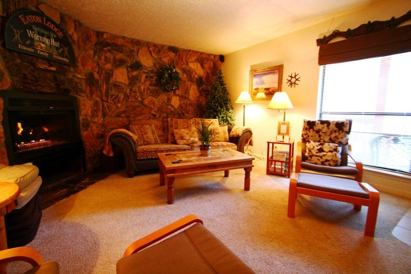 Valley Condos #115 - Huge Condo, King Bed, Jacuzzi Tub, WiFi, Washer/Dryer, Common Hot Tubs, Creek - Image 1 - Red River - rentals