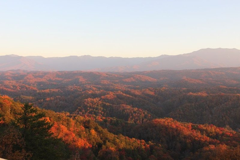 Fall colors from second floor deck - View from the Top - Unobstructed Panoramic View - Sevierville - rentals