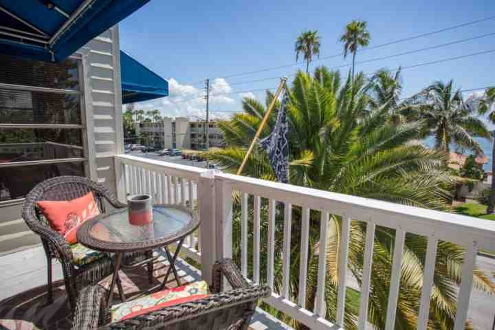 One of the upper open balconies with Water View - Jewel of the Isle - Saint Pete Beach - rentals