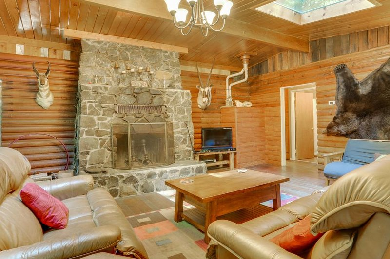 Elegant and dog-friendly with private hot tub & riverfront views - Image 1 - Rhododendron - rentals
