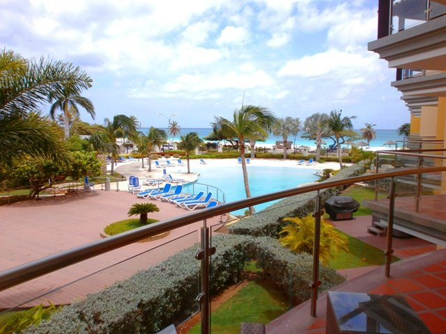 Your great ocean view from one of the balconies! - Elegant View Three-bedroom condo - E224 - Eagle Beach - rentals