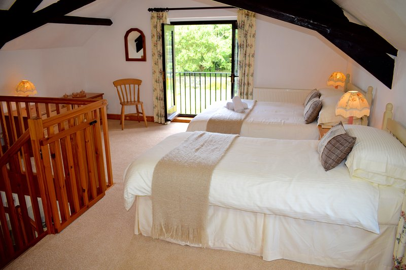 Vine's lovely bedroom with view towards woods - Vine Cottage on Magical North Devon Coast - Hartland - rentals
