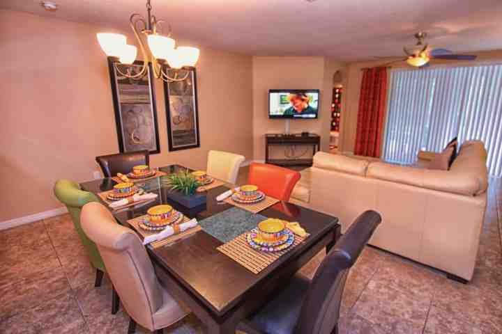 Colorful and Comfortable dining area and Family Area - 9047 Calabria - Four Corners - rentals
