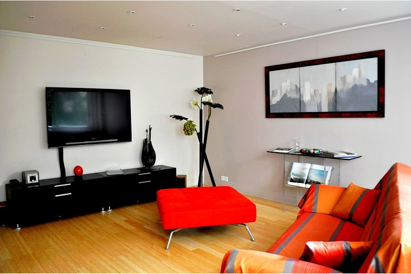 Living room with flat screen TV - parisbeapartofit - Bourse Rue de Richelieu (1368) - Paris - rentals