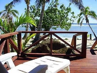 Beach House decking area - Sun, Sea & Sand, they only one missing is you. - Sunset Palms Rarotonga - Avarua - rentals