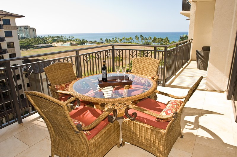 Panoramic ocean view from the dining room and lanai in this Oahu beach villa - Luxury Ko Olina Beach Rental Panoramic Ocean View - Kapolei - rentals