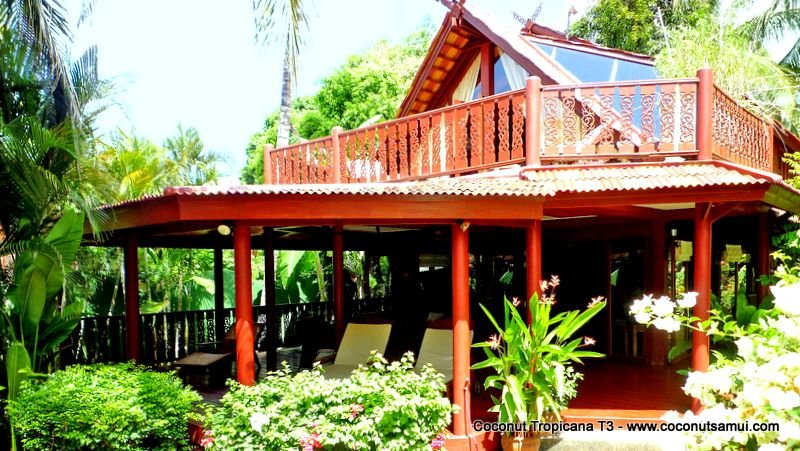 Beachside Holiday Villa for Rent: Coconut Tropicana T3 - Image 1 - Koh Samui - rentals