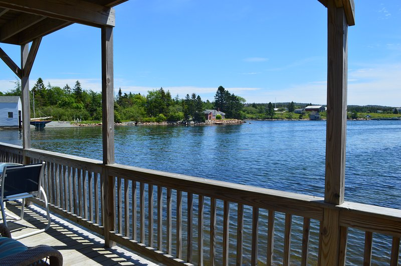 Views from the Deck of Winter Harbor's harbor! - Oceanfront Home in the Heart of the Village - Winter Harbor - rentals
