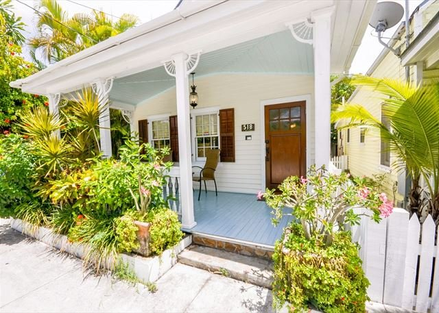 Front Porch - Catherine House: A charming Old Town Key West cottage - Key West - rentals