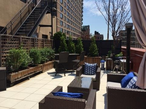Outdoors - large private terrace (1 of 2) including bar, grill, lounge area - NYC Luxury Penthouse with Two Terraces and Views - Manhattan - rentals