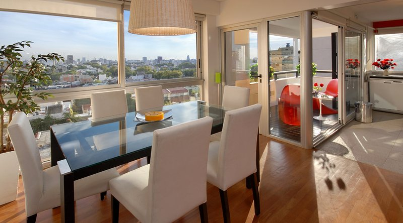 GYM & POOL 2 BEDROOM/ 2 BATH (PT2) GREAT VIEWS FROM THE 7TH FLOOR! - Image 1 - Buenos Aires - rentals