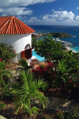 Hope Cottage...spectacular views from 1 BR villa...Oyster Pond, St Maarten 800 480 8555 - HOPE COTTAGE... - Oyster Pond - rentals