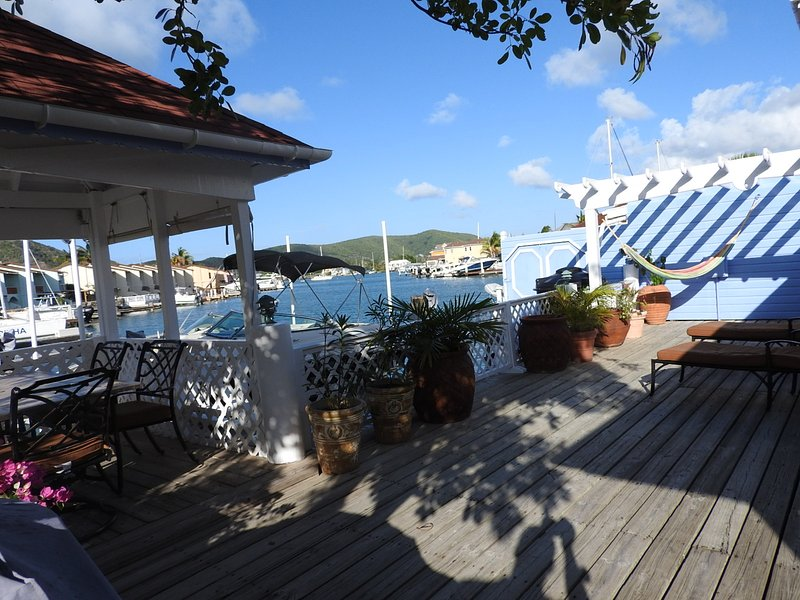 Deck area - Villa Gatzby -Jolly Harbour, Antigua - Jolly Harbour - rentals