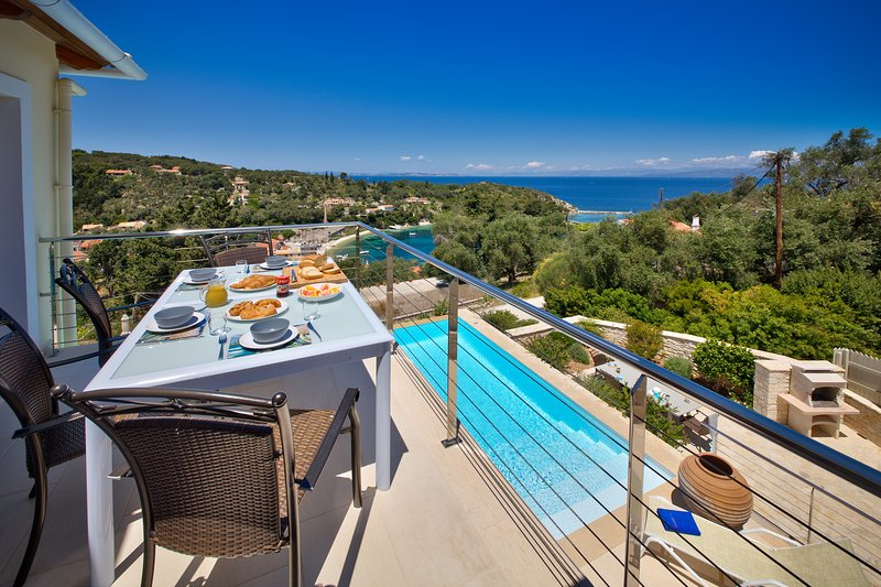 Loggos Retreat - Luxury 3 bed villa with sea view - Image 1 - Loggos - rentals