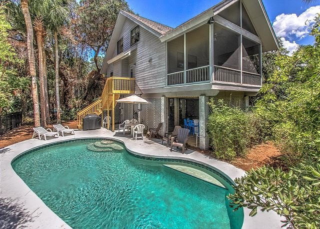 Exterior - 8 Osprey - Oceanviews from your porch & 25 steps to the beach. - Hilton Head - rentals
