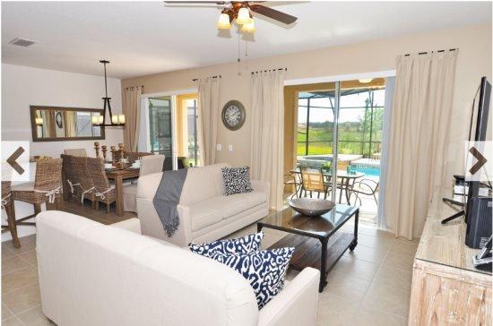 Beautiful 6 Bedroom 5 Bath Pool Home in Gated Resort. 4389AC - Image 1 - Davenport - rentals