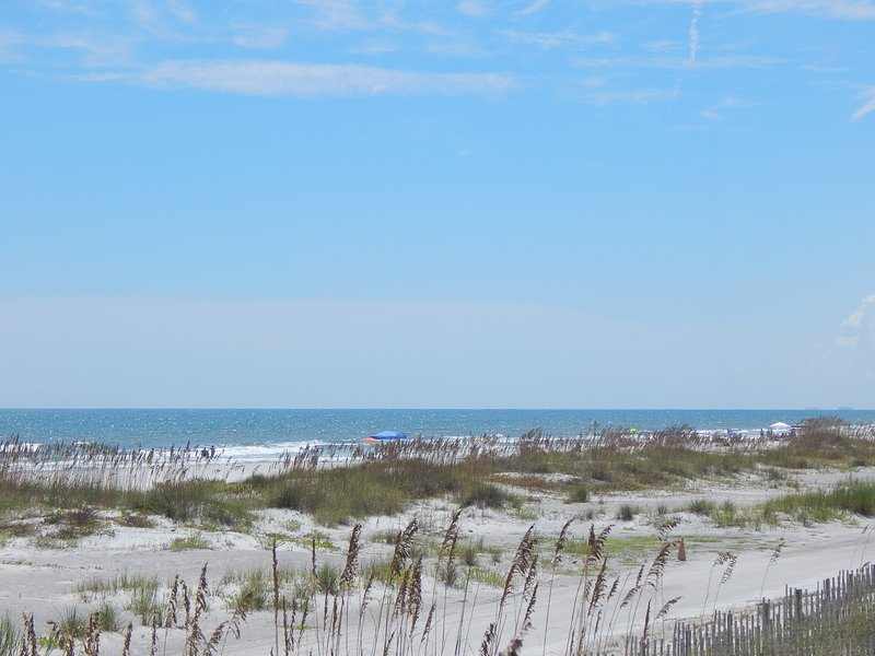 View of St. Augustine Beach from the boardwalk - Ponce Landing Unit 8, Oceanfront, Family Friendly! - Saint Augustine Beach - rentals