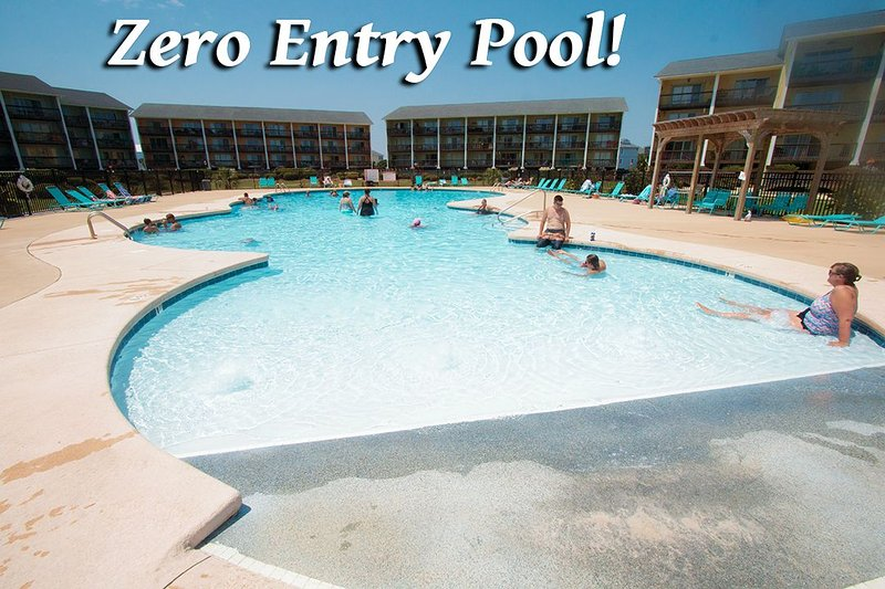 Topsail's Only Zero Entry Pool - Surf Condo 614 | Zero Entry Pool....just a gradual slope to deeper & deeper h20 - Surf City - rentals