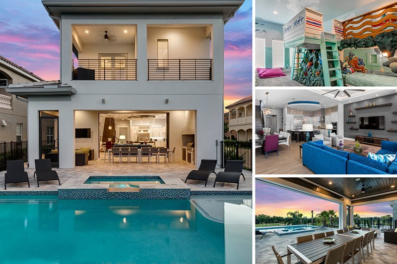 Golden Bear Retreat | 6 Bed 6 Bath Luxury Villa Furnished July 2016 with Theater Room, Finding Nemo Kids Room and Private Pool with Spillover Spa - Image 1 - Kissimmee - rentals