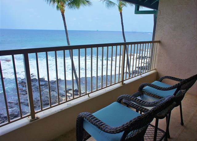 Ocean Front Lanai - Direct Ocean Front Kona Reef A32, Walk to Town, AC, - Kailua-Kona - rentals