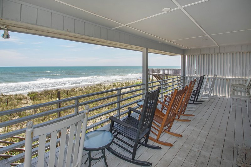 From the porch - C Kissed Ocean-Front, Vacation Home On Oak Island - Oak Island - rentals