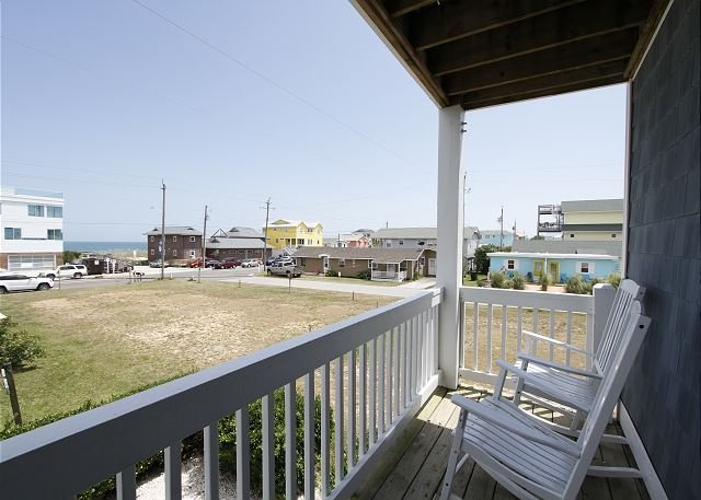 Worth The Wave - Deck views - Worth The Wave - Oceanview Duplex in Kure Beach - Kure Beach - rentals