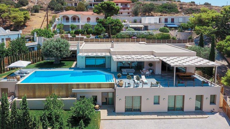 Villa Blue Coast - aerial view - Blue Coast Villa | Private Villa in Lagonissi - Lagonisi - rentals